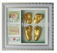 baby keepsake kit - baby shower favor Handprint Footprint D casting kit gifts with photo Frame kids birthday gift wedding keepsake