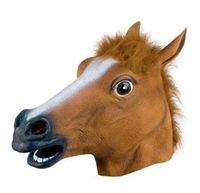 Wholesale halloween mask New Horse Head Mask Creepy Halloween Costume Theater Prop Latex Rubber Novelty Masks