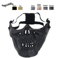 Wholesale Outdoor Airsoft Shooting Equipment Face Protection Gear Skeleton Mask Half Face Tactical Airsoft Horror Skull Mask