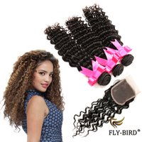 Wholesale Clearance Sale Brazilian Virgin Hair Piece With Bundles Deep Wave Brazilian Hair Inch Best Quality Bundles With Closure