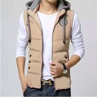 Wholesale Vest Jackets Warm Waistcoat Outdoor Winter Mens Coats Jacket Hoddie for Mens Styles Brand Down Vest Jackets Cotton Clothing