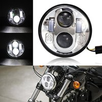 Wholesale 5 Inch Headlight Bulb quot High Low Beam LED Headlamp Kit Driving Lights for Harley Davidson Daymaker Motorcycle Projector Auxiliary