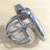 Wholesale New design mm length Stainless Steel Super Small Male Chastity Device quot Short Cock Cage For BDSM