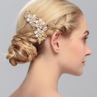 Wholesale Factory Direct High Archives Europe And America Korean Bride Headwear Rhinestone Flower Wedding Accessories Insert Comb Hair Decor Tin Alloy