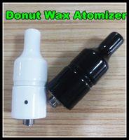 Wholesale New Huge Vapor Full Ceramic Glass Wax Atomizer Donut wickless Coils Herbal Pyrex Vaporizer mm Atomizer e cigarette vape pen Mod Tank