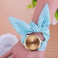 arts table cloths - Ms cloth belt watches Stripe cloth belt table Geneva ladies cloth art watches