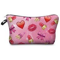 beauty travel bag - Travel Cosmetic Bag Hot selling Women Brand Small Makeup Case D Printing Emoji Beauty H57
