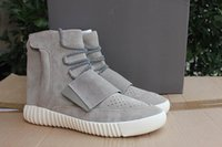band beige - With Box Boost Kanye West Leather Mens basketball MidCut boost west kanye Men s Sport Running Shoes best high version EUR36