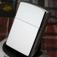 Wholesale Retail New Fashion Mirror Windproof Metal Oil Cigarette lighter Smoking Fuel Silver Lighters birthday gift
