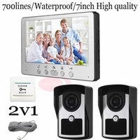 Wholesale Wired quot DoorPhone Entry Intercom Systems Support Waterpfoof Night Vision Unlock Monitor Function In Stock v1