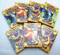 Wholesale Poke Trading Card Games Newest English Edition XY Anime Monsters Cards board games Card Toys for Children Kids