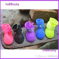 Wholesale Waterproof and Skid Resistance Rain Boot for Pets Dog Soft PVC Pet boots many color for your choose