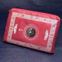 Wholesale islamic travel pocket prayer mat with compass muslim prayer rug mix colors foldable size cm ZD092B