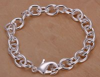 american traditions - High quality Silver plated Bracelet chain Fashion Tradition Chain High quality Top Sale Silver Noble fashion charm Bracelet Jewelry