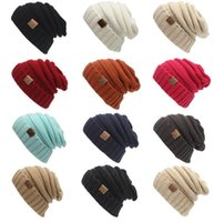 Wholesale Hats Women Men Winter Special Solid Adult Gorro C Men s Women s Chucky Stretch Cable Knit Slouch Cc Beanie Skully Ski Hat