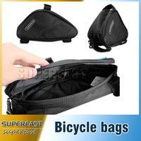 bicycle tool bag - Triangle Outdoor Cycling Bags Convenient Tool Bags Portable Accessory Bags Compact Front Tube Bicycle Bags with OPP Package