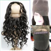 Wholesale 360 Lace Frontal Closure Pre Plucked A Lace Frontals With Baby Hair Piece Loose wave Wave Brazilian Lace Virgin Hair Band