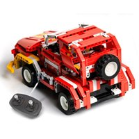 auto truck toy - Kids Toys RC Truck Trailer Anime Robot Auto Bricks Union Building Blocks Sets toys For Children Gift RC Trucks red