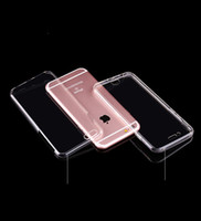 Wholesale 360 Degree Front Back Clear Transparent TPU gel Cover Case Soft Gel Shockproof Phone Cases for iphone plus for samsung note7