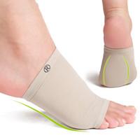 Wholesale Silicone Elastic Bandage Arch Flatfoot Orthotics Massage Pad Insoles Gel Elastic Bandage Arch Flatfoot Foot Cares Orthotics Insole Plantar
