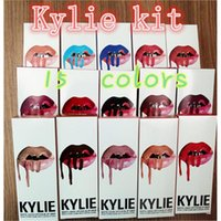 Wholesale Kylie Matte Liquid Lipstick Lip Gloss Kit Velvetine Kylie Jenner with Lip Liner Pencil Color Kristen Ginger Exposed Makeup Kylie Cosmetics