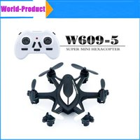 Wholesale W609 Mini RC Helicopter GHz Wireless Remote Control RC Hexacopter Axis Gyro Mini Camera Drone