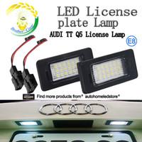 audi lights for jetta - 2pc X LED License Plate Light Assemblies For Audi A1 A6 A7 Q5 TT Volkswagen VW Jetta Passat Touareg Touran E8 Mark