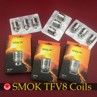 Wholesale Original Smok TFV8 Coils V8 T8 V8 T6 V8 Q4 TFV8 COIL RBA coils Replacement coil for SMOK TFV8 Tank