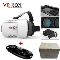 Wholesale Google cardboard VR BOX Version Virtual Reality Glasses Smart Bluetooth Wireless Mouse Remote Control Gamepad with package