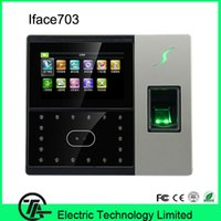 Wholesale 1500 face capacity iFace703 face recognition fingerprint clock access control system with TCP IP communication