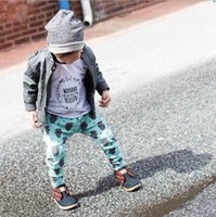 Wholesale ins Boys Girls Baby Childrens Harem Pants Clothing Cartoon Buffalo Head Printed Leggings Trouser Kids Clothes Newest