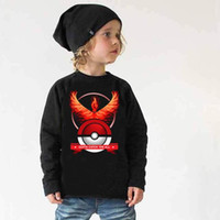 baby novelty shirts - Kids Poke Ball T Shirts Poke Go Shirts Poke Monster Tops Pocket Monster Tees Fashion Casual Shirts Long Sleeve Print Cotton Shirts B825