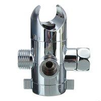 Wholesale Sliver Shower Head Diverter Valve Inch Three Way T adapter Valve Plastic Housing Three Waterways Switch