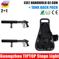 Wholesale DJ co2 Gun Co2 Gas column machine Tank Back Pack with Shoulders Straps Nylon Buckle Handhold Mobile DJ Gas Gun