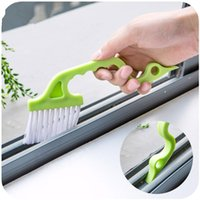 air conditioning device - Hand held Slit Trench Doors Groove Cleaning Brush Air Conditioning Outlet Air Louvers Tube Brush plastic brosse cleaner device