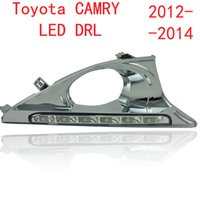 Wholesale 2PCs set car LED daylight DRL Daytime Running Lights for Toyota Camry with fog lamp