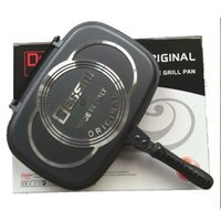 aluminium griddle pan - 36CM DESSINI DOUBLE GRILL PAN DOUBLE FRYING PAN ALUMINIUM DOUBLE PAN