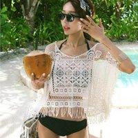 beautiful lady suit - Hot Sales Sexy beautiful lady Lace Crochet Tassel Bikini Swimwear Cover Up Beach Dress Bathing Suit