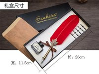 art corporate gift - Fancy feather pen corporate business gifts suit creative birthday presents practical Luxury Pen box