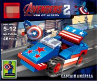 Wholesale The Avengers Superhero Movie Car Building Blocks Styles New Avengers Age Of Ultron DIY Bricks Baby Toys jy441