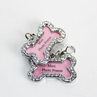 Wholesale Personalised Engraved Glitter Paw Print Tag Dog Cat Pet ID Tags Reflective