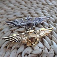 aviation accessories - Spot copper USMC aviation badge gold silver anchor accessories X2 cm