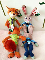 Wholesale CM Zootopia Toys Stuffed Cartoon Dolls Plush Toys Movie Zootopia Nick Wilde and Judy Hopps Fox Rabbit