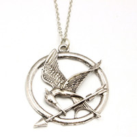 arrow charm necklace - The Hunger Games Necklaces Inspired Mockingjay And Arrow Pendant Necklace Authentic Prop imitation Jewelry Katniss Movie DHL Free