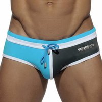 Wholesale Seobean Brand Mens Bikini Swimwear Nylon Bathing Suit for Men Briefs Swim Shorts Sexy Surf Wear Gay Beach Pouch Maillot Homme