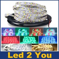 Wholesale 100m New SMD Led Flexible Strips Lights LEDs m m Roll RGB Led Lights Strips Waterproof V For Christmas Lighting