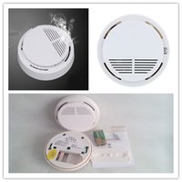 Wholesale Smoke Alarms System Wireless Smog Detector Alertors Photoelectric Wireless Home Security Alarm Systems With Battery and Package