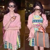 Wholesale High quality solid color winter women cashmere scarf wraps with tassels nice touching big size x180cm many colors available pc retail