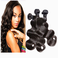 Wholesale 8A Cheap Natural Human Hair Weave Extensions Body Wave Brazilian Hair Peruvian Malaysian Indian Cambodian Hair Bundles Can Be Dye Ombre