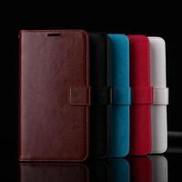 al por mayor venta al por mayor marcos de fotos de cuero-Venta al por mayor nueva bolsa magnética de cuero de la carpeta del tirón con la cubierta de la caja del paquete de Opp del marco de la foto de la ranura para tarjeta para Xiaomi Redmi 3S